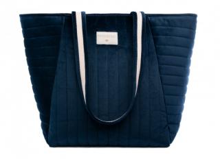 Savanna Velvet Maternity Bag / Night Blue