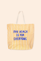 The Beach Is For Everyone Tote Bag / Yellow - Light Cream