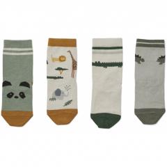 Silas Cotton Socks 4 Pack / Safari Sandy Mix