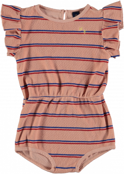 Playsuit Frill Bistripe / Dusty Pink