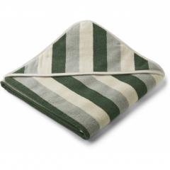 Louie Hooded Towel / Garden Green Sandy Dove Blue