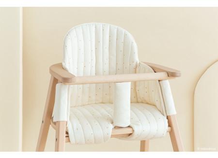 Growing Green High Chair Cushion / Honey Sweet Dots Natural