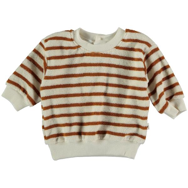 Organic Towelling Baby Sweatshirt / Peanut
