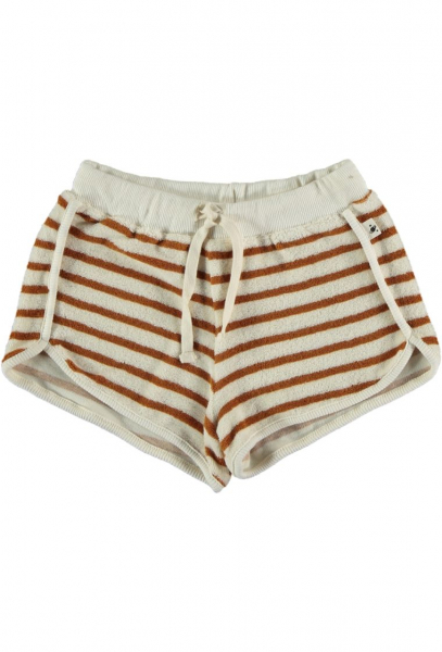 Organic Towelling Kids Shorts / Peanut