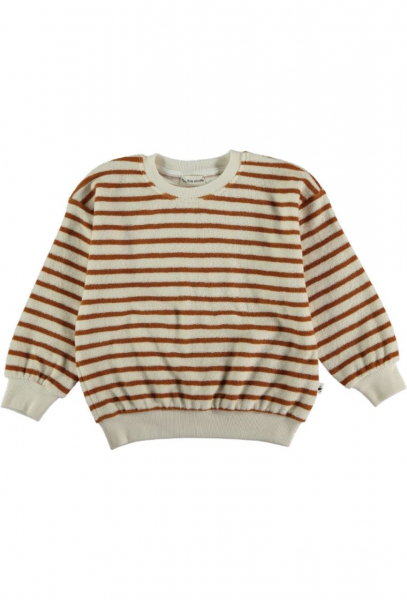 Organic Towelling Kids Sweatshirt / Peanut