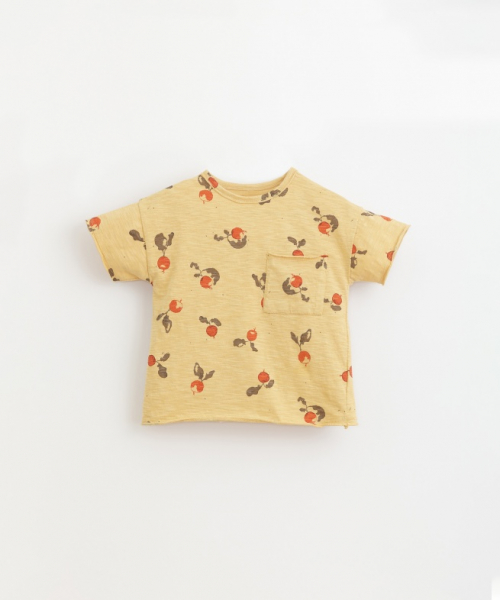 Printed Flamé Jersey T-Shirt / Straw