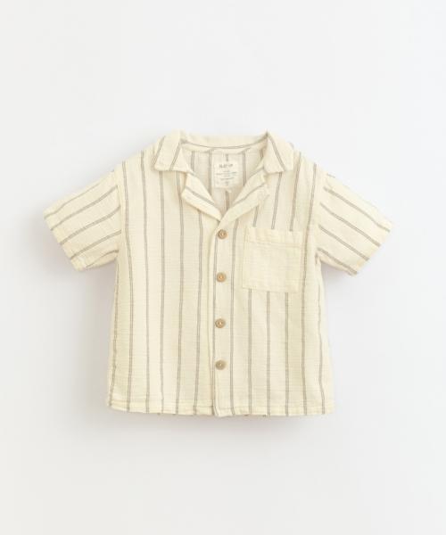 Striped Woven Shirt / Dandelion