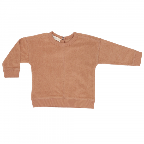 Frotté Baby Sweater / Warm Biscuit