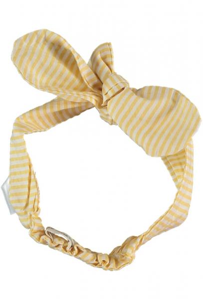 Striped Seersucker Headband / Yellow