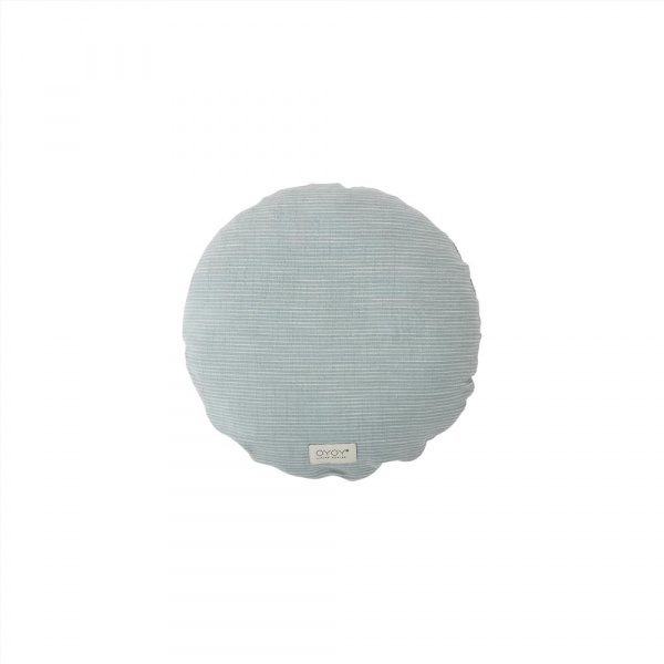 Kyoto Cushion Round / Dusty Blue
