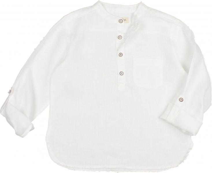 Paul Linen Shirt / White
