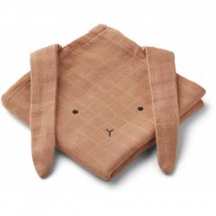 Hannah Muslin Cloth 2 Pack / Rabbit Tuscany Rose