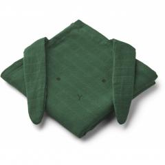 Hannah Muslin Cloth 2 Pack / Rabbit Garden Green