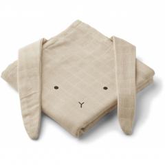 Hannah Muslin Cloth 2 Pack / Rabbit Sandy