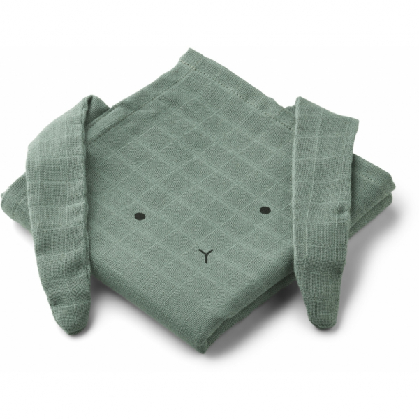 Hannah Muslin Cloth 2 Pack / Rabbit Peppermint