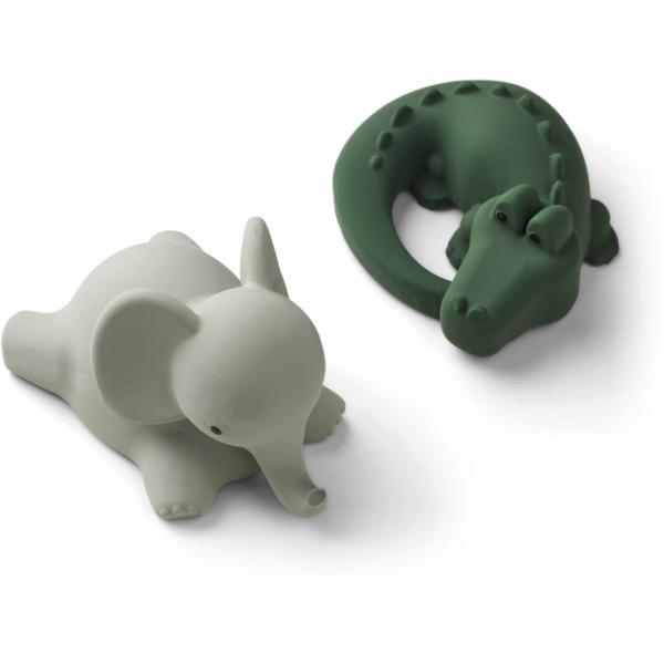 Vikky Bath Toys 2 Pack / Safari Green Mix
