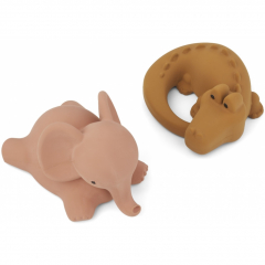 Vikky Bath Toys 2 Pack / Safari Dark Rose Mix