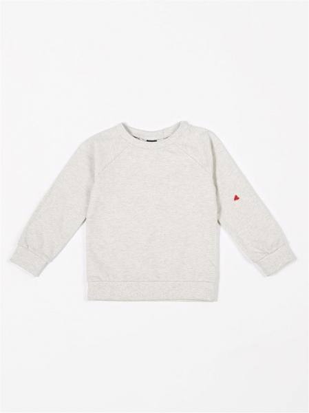 Raglan Sweater French Terry / Creme Melee