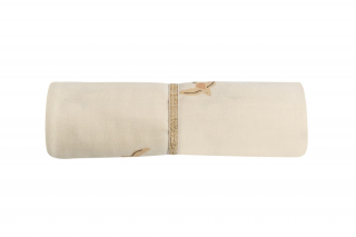 Butterfly Swaddle / Nude Haiku Birds Natural