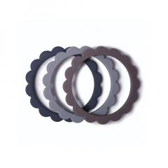 Flower Bracelet / Steel-D.Grey-Stone