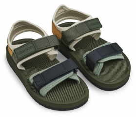 Monty sandals / Hunter Green Mix