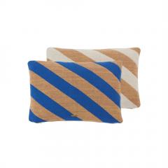 Takara Cushion / Optic Blue - Camel