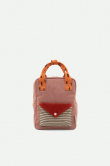 Backpack Small Corduroy / Dusty Pink + Marmalade / Carrot Orange