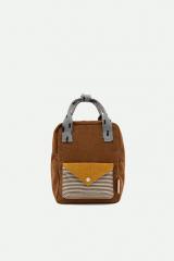 Backpack Small Corduroy / Walnut Brown + Mari Gold + Steel Blue