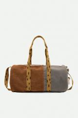 Duffle Bag Sprinkles Corduroy / Walnut Brown + Pigeon Blue + Panache Gold
