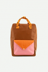 Backpack Large / Syrup Brown + Carrot Orange + Bubbly Pink