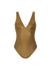 Women Bathingsuit / Dull Gold Cup D