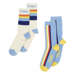 Funky & Thank Youth Socks - 2 Pack / Blue
