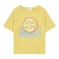 Sunset People Organic Cotton T-shirt / Yellow Curry