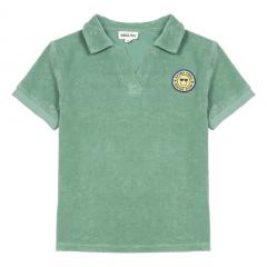 Surf Shack Organic Terry Cloth Polo Shirt / Green