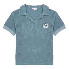 Surf Shack Organic Terry Cloth Polo Shirt Storm / Blue