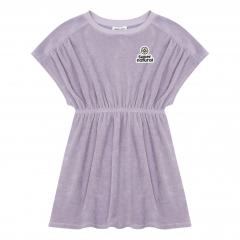 Organic Terry Cloth Dress / Lavender