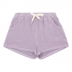 Organic Terry Cloth Shorts / Lilac