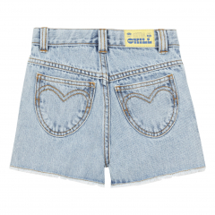 Organic Denim Shorts Denim stonewashed
