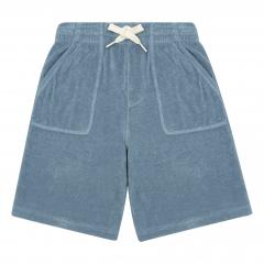 Organic Terry Cloth Shorts / Storm Blue