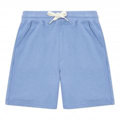 Embroidered Organic Cotton Shorts / Blue