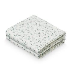 Muslin Cloth, 2-pack - Green Leaves