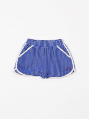 Dames Short Sport Terry Stripes Palace Blue