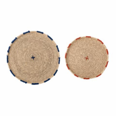 Deco plate seagrass multi-color (set of 2)