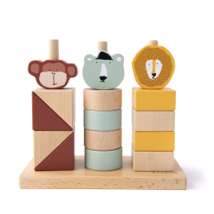 Wooden Animal Blocks Stacker