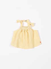 Smock Top Vichy Small / Yellow