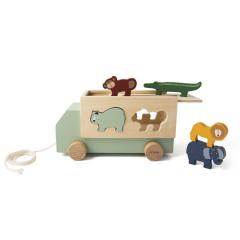 Wooden Animal Truck