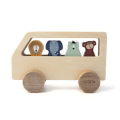 Wooden Animal Bus