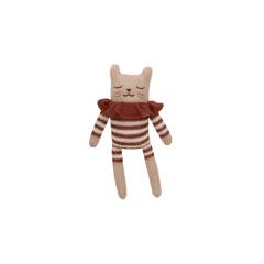 Kitten Soft Toy / Sienna Striped Romper