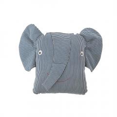 Erik Elephant Denim Cushion