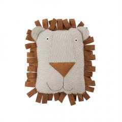 Lobo Lion Denim Cushion / Caramel